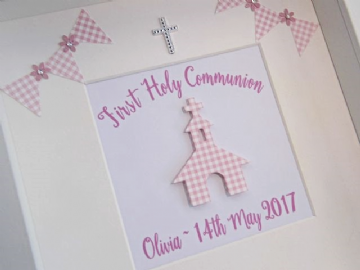 Personalised Girl's First Holy Communion Gift Frame